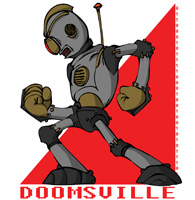 Doomsville Robots team badge